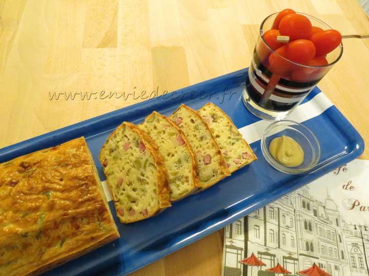 aperitif sale leger cake jambon olives