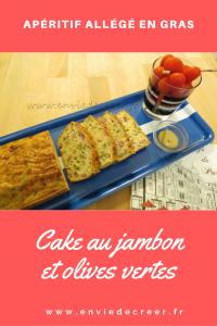 Aperitif salé allégé en gras cake jambon olives