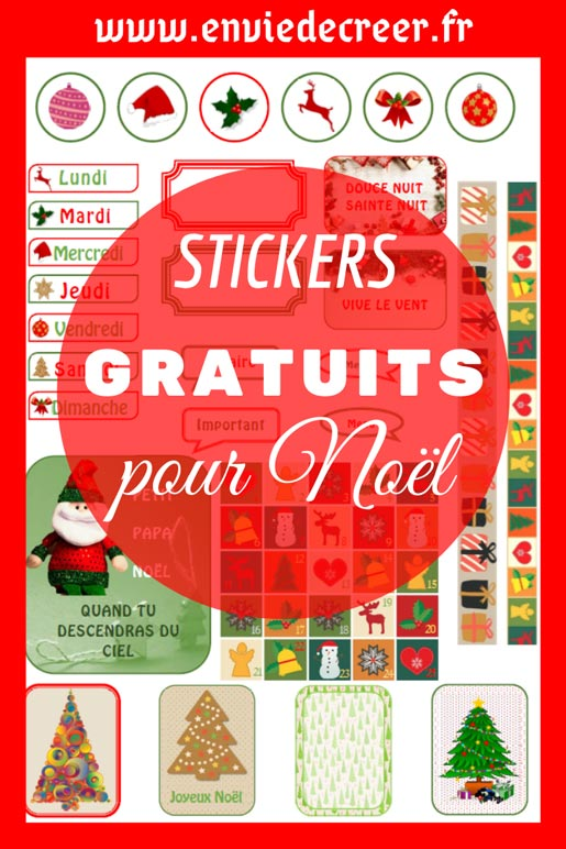 gratuit stickers noel