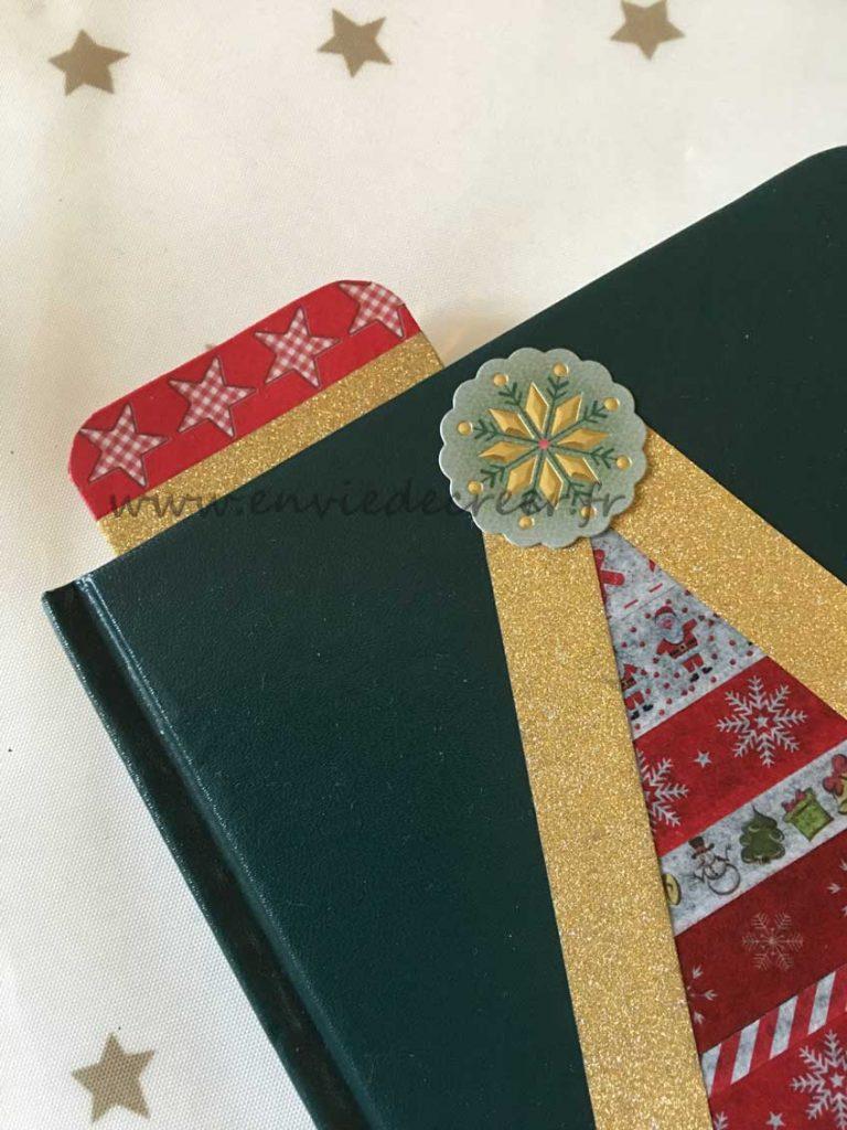carnet marque-page washi noel