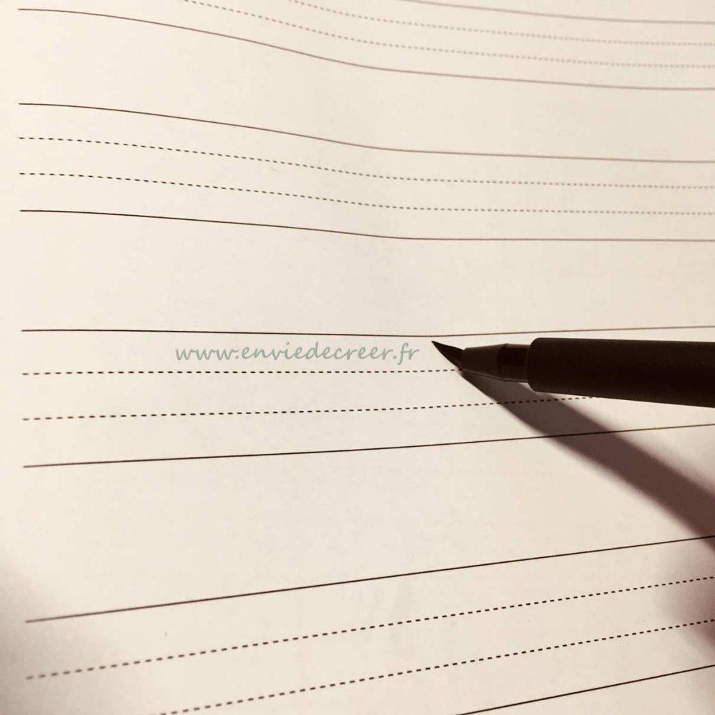 flexion-des-poils-pinceau brush lettering