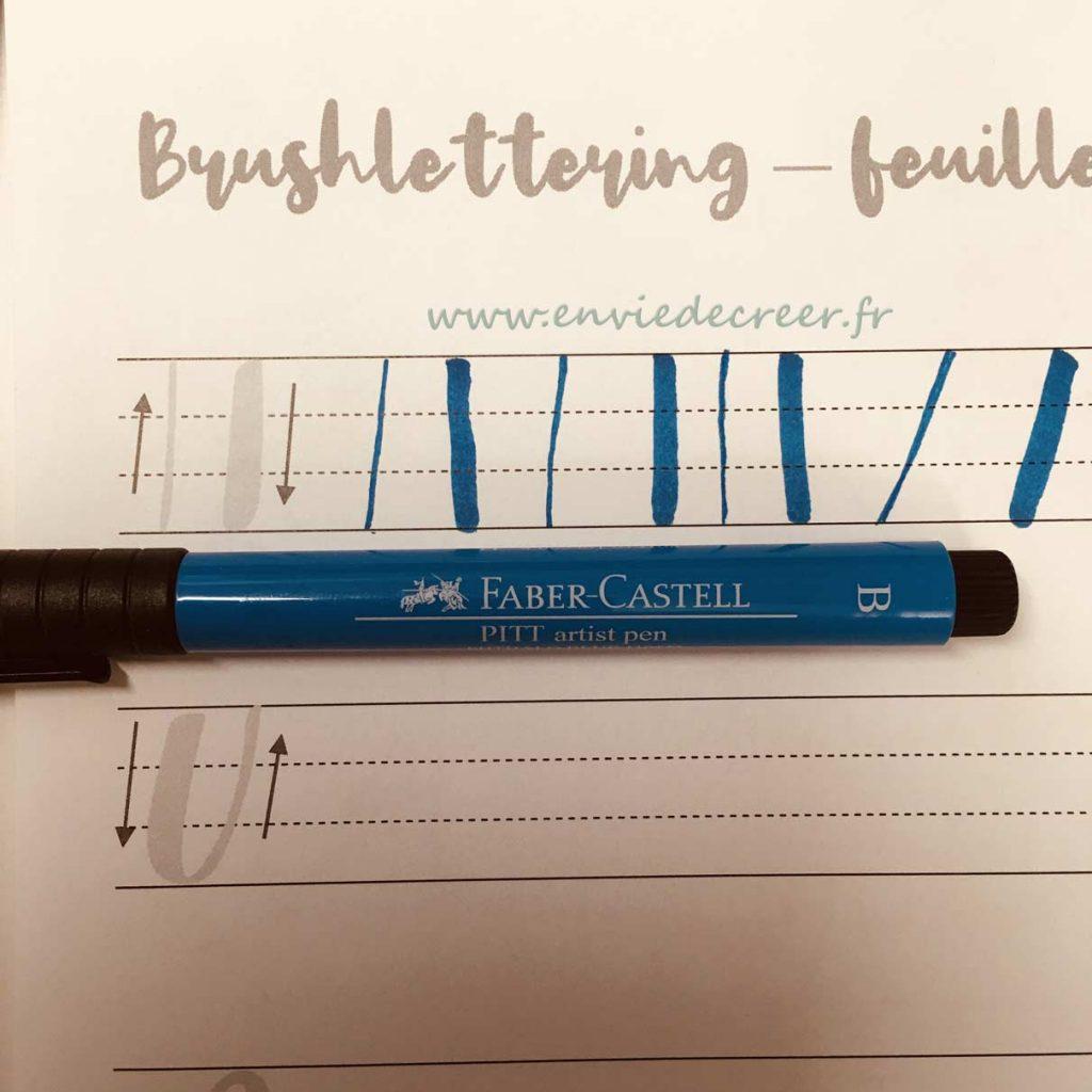 pitt-artist-bleu-brush lettering