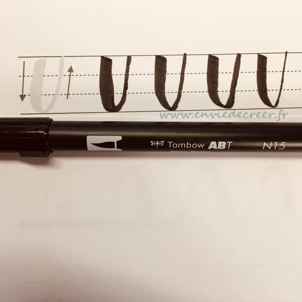 tombow brush lettering