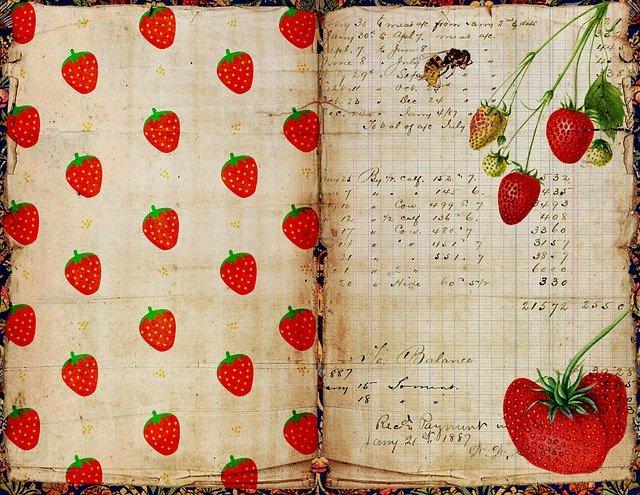 collage journal fraise